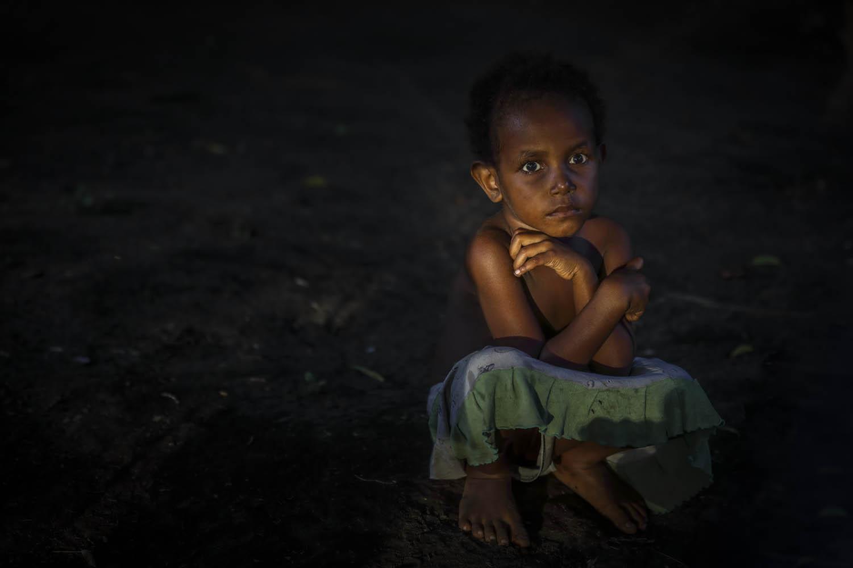 Mädchen in Lalinda, Ambrym, Vanuatu.Girl in Lalinda, Ambrym, Vanuatu.