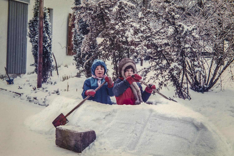 F2A0474Kanufahren im Winter mit Schwester Rita Lohmann. Canoeing in the wintertime with sister Rita Lohmann.Poto: Elke Lohmann