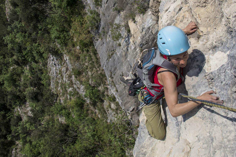 "140426_0270Kletterroute ""The Bastard"", 8+, 540m, Arco, Gardasee, Italien.Climbing route ""The Bastard"", 8+, 540m, Arco, Lago di Garda, Italy.Photo: Sebastian Hofmann"