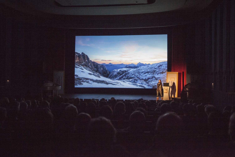 """160119_0137Vortrag """"Abenteuer Dolomiten""""Foto: Lucia Gistl"""