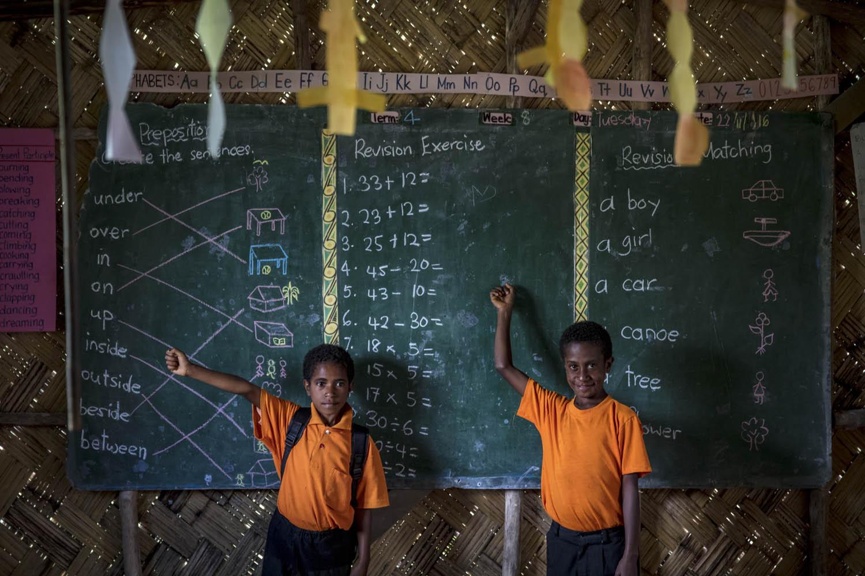 161124_1503Schulkinder in Buang, Papua- Neuguinea.School kids in Buang, Papua New Guinea.