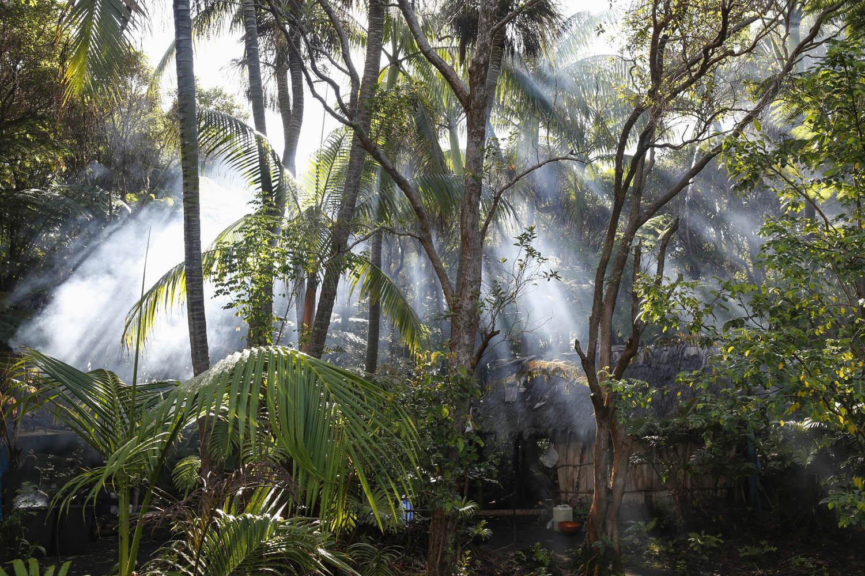 141029_16261Basislager in der Caldera, dem alten Krater der Insel Ambrym, Vanuatu.Base camp inside the Caldera of Ambrym Island, Vanuatu.