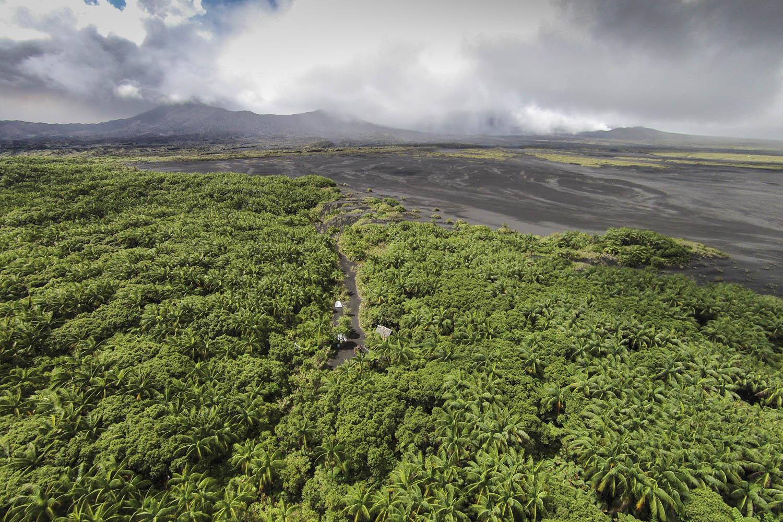 141102_D_20951Basislager in der Caldera, dem alten Krater der Insel Ambrym, Vanuatu.Base camp inside the Caldera of Ambrym Island, Vanuatu.