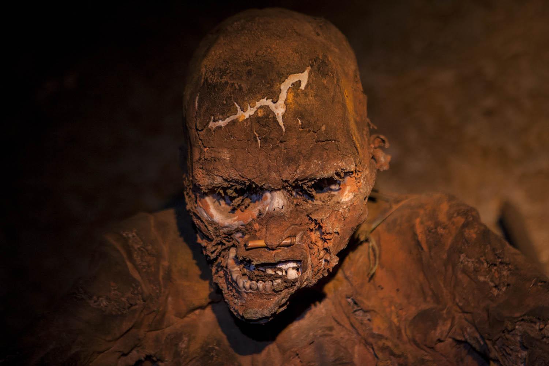 D_1546Mumifizierter Dorfhäuptling, Papua- Neuguinea.Mummified tribal chief, Papua New Guinea.
